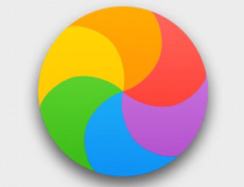 Mac avec la roue (colorée) qui tourne