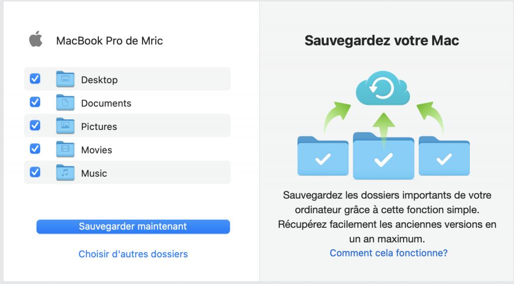 Sauvegarde Mac en ligne