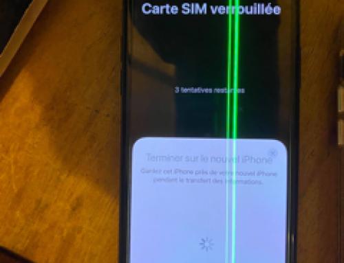 Ligne sur écran iPhone, pourquoi ? (Ligne verte/blanche)