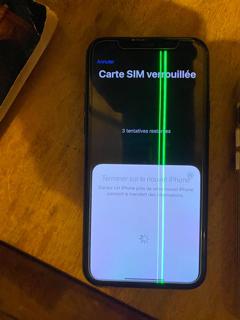 Ligne sur iPhone